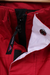 Snowdonia Mens L Jacket Red Outdoor Full Zipper Hiking Mountain Top