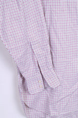 Joseph Turner Mens 34R Casual Shirt Button Down Collar 16,5 Check Cotton