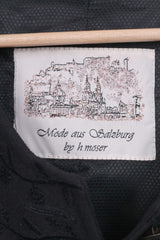 Mode aus Salzburg by h.mosser Womens 42 Blazer Jacket Black Single Breasted Vintage