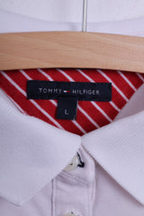 Tommy Hilfiger Womens S Polo Shirt Cotton White Short Sleeve Slim Fit