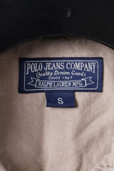 Polo Jeans Company Ralph Lauren Womens S Casual Shirt Beige Long Buttoned Cotton Top