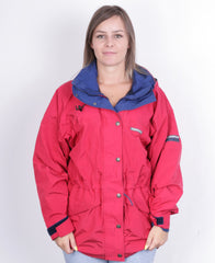 Karrimor Western Isles Womens 12 M/L Jacket Gore-Tex Hood Red Waterproof - RetrospectClothes