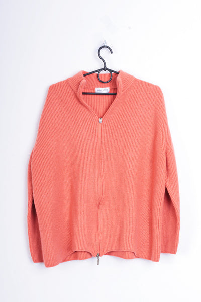 Gerry Weber Edition Womens 22 3XL Jumper Orange Sweater Virgin Wool - RetrospectClothes