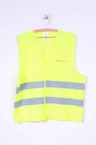 Ica Supermarket Unisex Onesize Vest  Reflective Safety Yellow