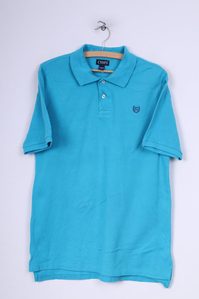 Chaps Youth XL (18-20) Polo Shirt Blue Short Sleeve Summer Cotton