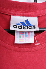 Adidas Womens 30/32 XS T-Shirt Sport Cotton Red Vintage 90s - RetrospectClothes