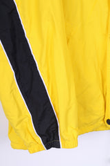 SORRY Mens L Jacket Nylon Waterproof Yellow Hidden Hood