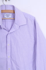 Charles Tyrwhitt Mens 16.5/34 Casual Shirt Lilac Cotton Jermyn Street London