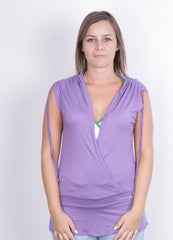 Calvin Klein Jeans Womens M Shirt Sleeveless Purple Top Jersey - RetrospectClothes
