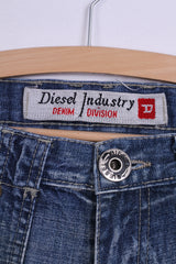 Diesel Industry Womens 29 Trousers Jeans Blue Denim Cotton Italy
