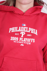 NBA Authentic Womens L Sweatshirt Red Philadelphia Hood Phillies - RetrospectClothes