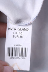 River Island Womens 10 36 S Mini Dress Blue Summer Palms Beach Sexi
