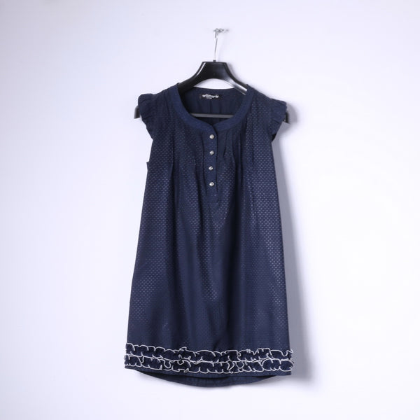 Darimeya Womens S/M Mini Dress Navy Summer Sweet Boho Tunic