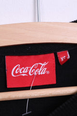 Cedar Wood State Womens XS Jumper Sweatshirt Black Coca-Cola Cotton - RetrospectClothes