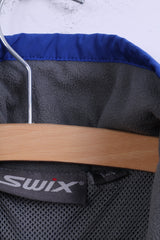 SWIX Womens 14 XL Track Top Jacket Full Zipper Sport Blue