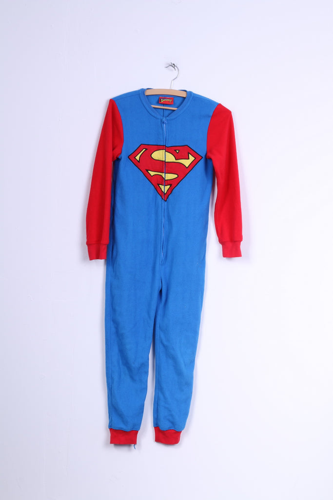 Superman Boys 11-12age 146-152age All In One Pajamas Suit Sleep Blue