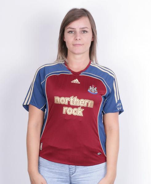 Adidas Womens M Shirt Newcastle United Short Sleeve Maroon Northern Rock Football - RetrospectClothes