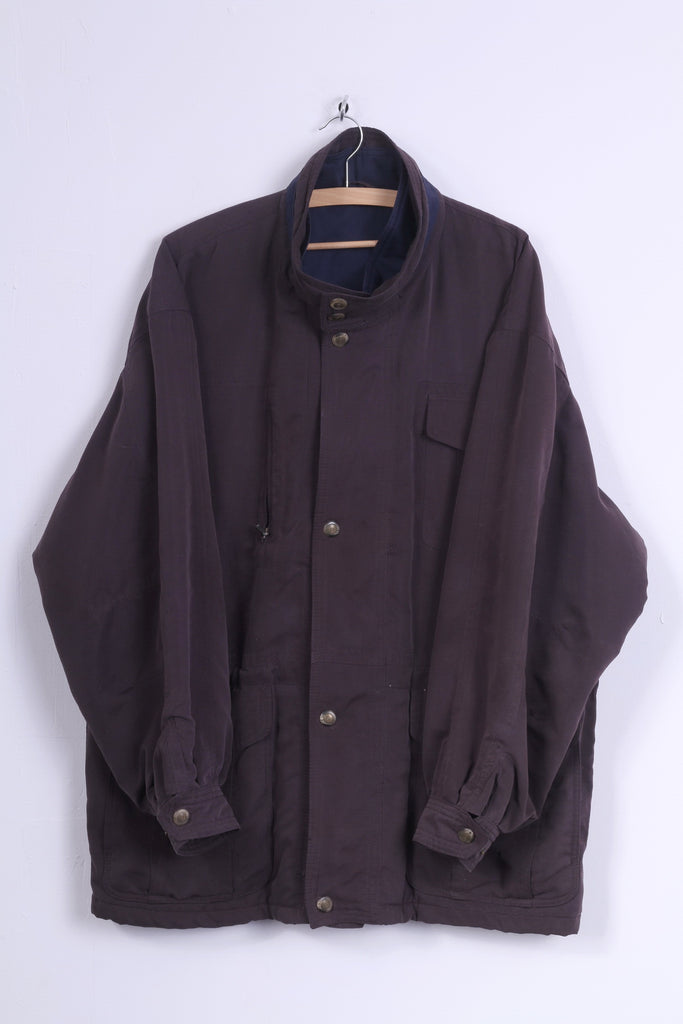 Bugatti Mens 27 2XL Jacket Full Zipper Purple Vintage