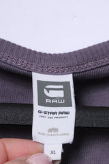G-Star Raw Mens XL Long Sleeved Shirt Grey Stretch Cotton Radar Granddad Top