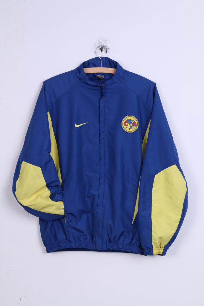 Nike Club America Womens S Jacket Track Top Blue Football Zip Up