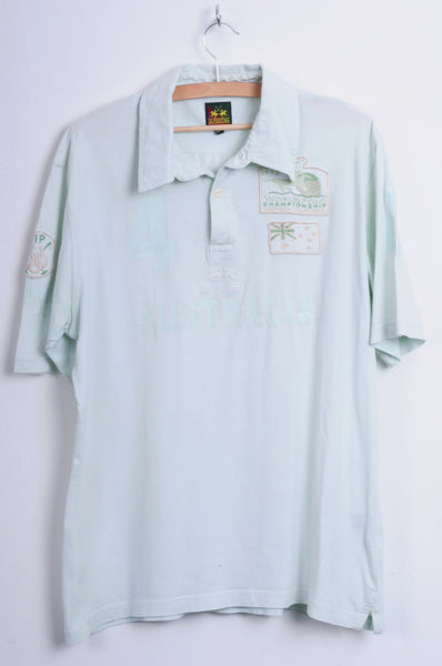 La Martina Mens 2XL Polo Shirt Australia Mint Cotton Top - RetrospectClothes