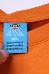 Paul Frank Boys XL 14 Age T-Shirt Orange Graphic Holiday Card Funny Top