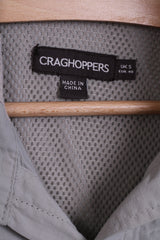 CRAGHOPPERS Mens S Casual Shirt Top Beige Detailed Buttons