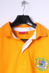 Cotton Traders Mens L Polo Shirt Orange 100% Cotton Australia Rugby Top
