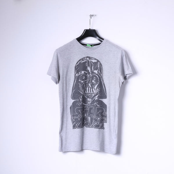 Cedar Wood State Mens M (S) T-Shirt Grey Cotton Star Wars Graphic Top