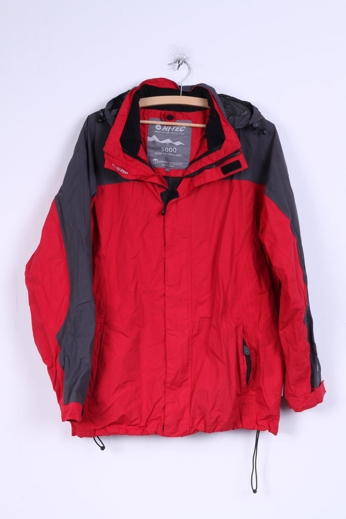 cheap price discover latest trends select for original Hi-Tec Mens L Jacket Red Nylon Breathable Waterproof Windproof