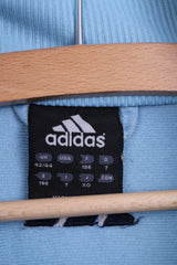 Adidas Mens 42/44 186cm Warm Up Top Jacket Training Blue