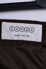 C&A Canada Womens 54 XL Trousers Pants Leather Vintage Brown