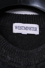 Westminster Mens XL (M) Jumper Dark Grey Wool Acrylic Blend Vintage Italy Sweater