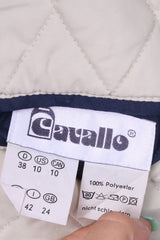Cavallo Womens 10 S Vest Bodywarmer Double Sided Navy/Beige Nylon Riding