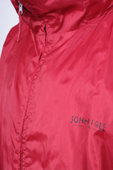 John F. Gee Mens 3XL Jacket Red Retractable Hood - RetrospectClothes