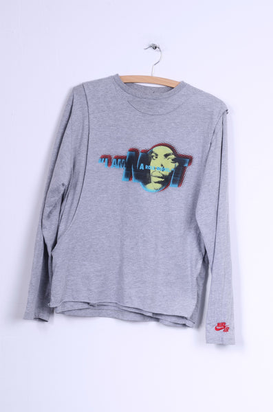 Nike Womens M Shirt Grey Dance I AM A ROLE MODEL Sport Top Sweatshirt