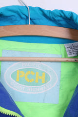 PACIFIC COAST HIGHWAY Mens L Jacket Nylon Waterproof Turquoise Sport Festival Vintage