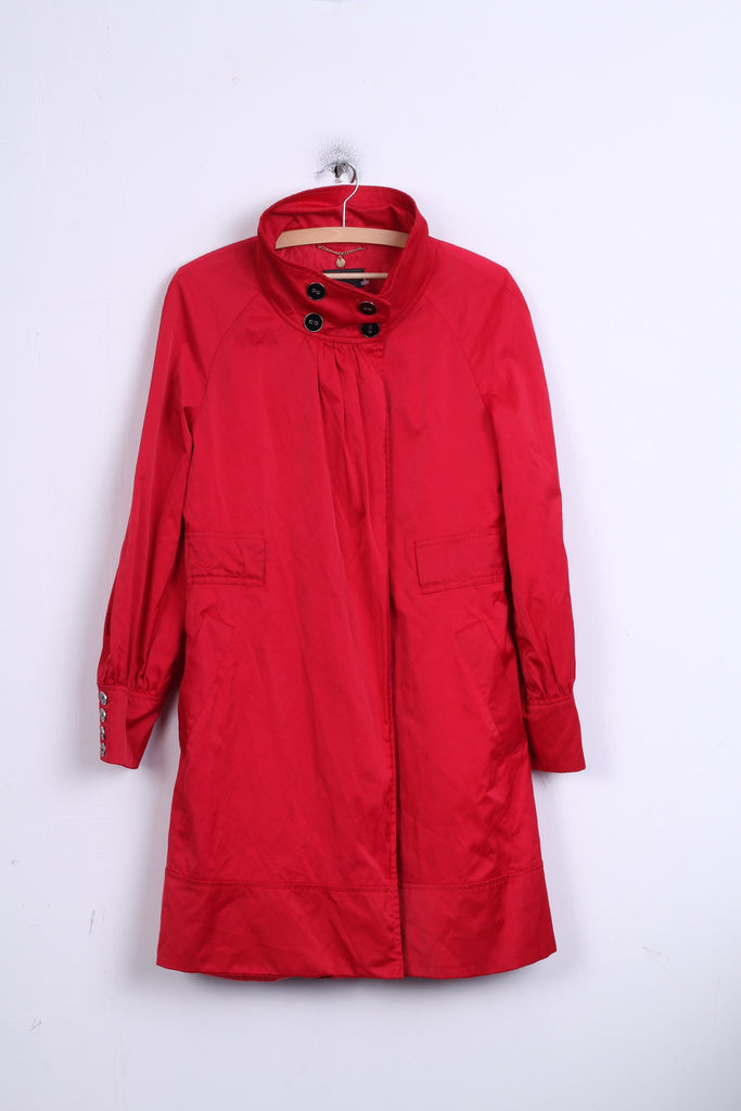 MNG SUIT Womens M Long Jacket Red Coat Mango