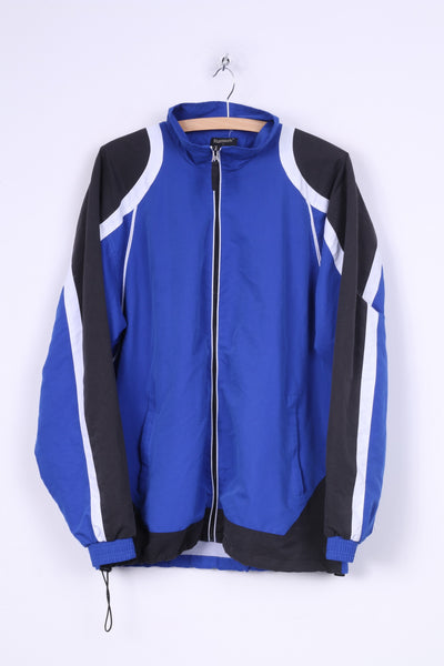 Runtech Mens L Track Top Jacket Blue Full Zipper