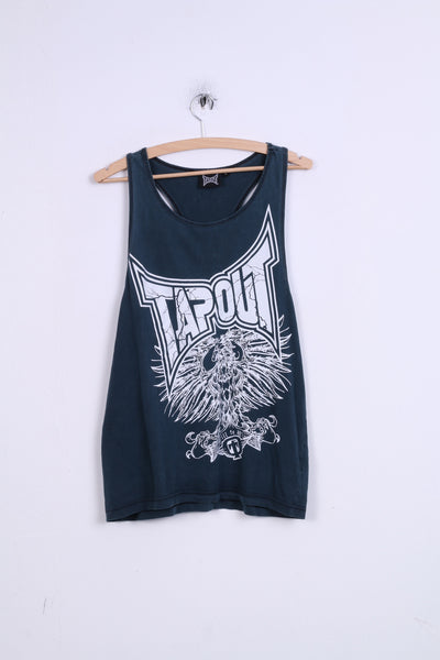 Tapout Womens L Sleeveless Athletic Top Boxing Sport MMA KSW Inky