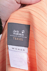 Jack Wolfskin Womens L Casual Shirt Orange Travel Striped - RetrospectClothes
