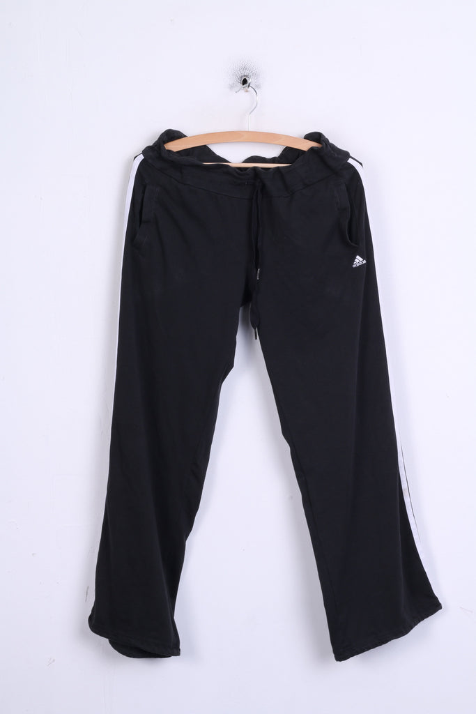 Adidas Performance Essentials Womens 16-18 L Trousers Black Sport Cotton