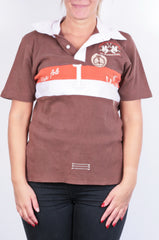 La Martina Womens M Polo Shirt Sport Brown Cotton - RetrospectClothes