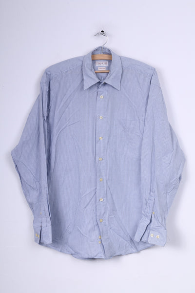 CARLETTI Moda Uomo Mens 39 Casual Shirt Check Long Sleeve