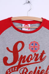 Sport Relief 2012 Mens XL T-Shirt Grey Cotton Crew Neck Graphic