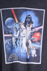 Star Wars Mens XS T-Shirt Grey Slim Fit Graphic Movie Top