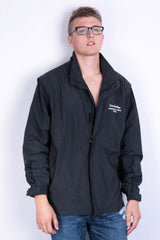 North End Mens L Jacket Full Zipper Black Waterproof - RetrospectClothes