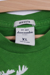 Abercrombie Kids Boys XL T-Shirt Green Cotton Deer Muscle