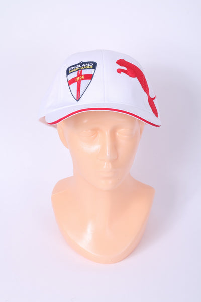 Puma England Rugby League Mens One Size Cap White Cotton Adjustable Fit