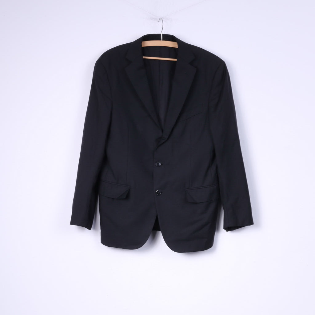 2e6e01f3 Ermenegildo Zegna Mens 50 M Blazer Jacket Single Breasted Striped Black  Wool Su Misura